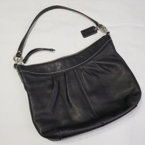 Coach Black Soft Leather Shoulder Bag Purse